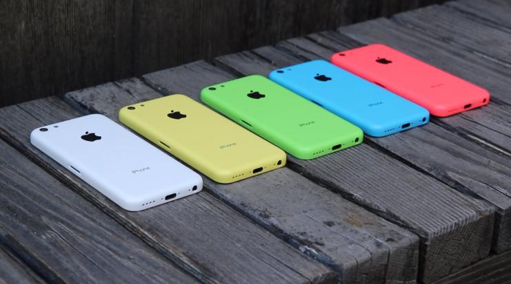 Màu sắc trên iPhone 5C 16GB