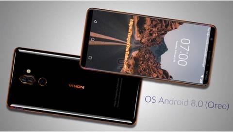 Ảnh Render Nokia 7 Plus với thiết kế cao cấp, màn hình 18:9, camera kép