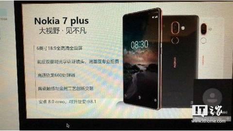Nokia 7 Plus lộ diện với Màn hình 18:9, RAM 4GB, Camera kép Zeiss