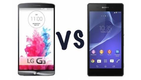 So sánh LG G3 và Sony Xperia Z2