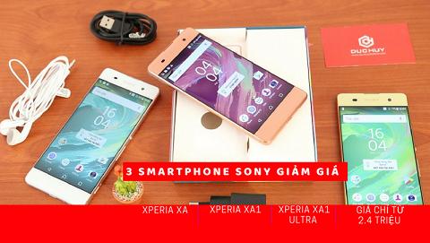 Bộ 3 Sony Xperia XA đồng loạt giảm giá tốt chỉ có tại Đức Huy Mobile