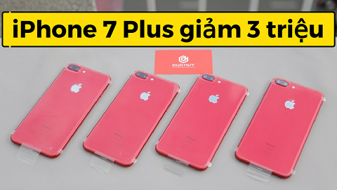 Sốc: iPhone 7 Plus màu đỏ về lại Đức Huy Mobile, giảm hơn 3 triệu đồng