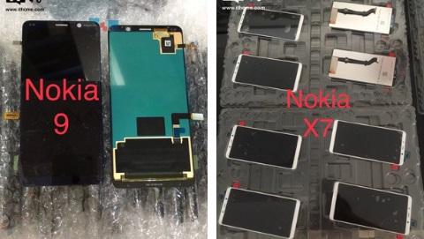 Nokia X7, Nokia 9 bất ngờ rò rỉ ảnh thực tế màn hình không tai thỏ