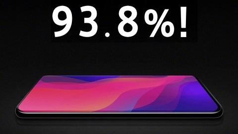 Oppo Find X sẽ trang bị màn hình 6.4 inch với tỷ lệ lên đến 93.8%