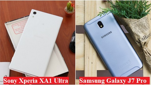Khoảng 5 triệu chọn Samsung Galaxy J7 Pro hay Sony Xperia XA1 Ultra?