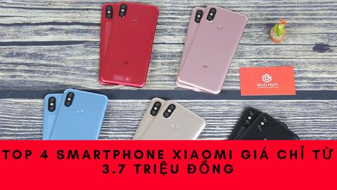 TOP 4 smartphone Xiaomi vừa lên kệ Đức Huy Mobile, giá chỉ từ 3.7 triệu