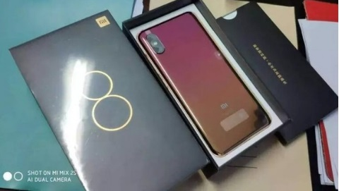 Xiaomi Mi 8 Fingerprint Edition màu Gradient lộ diện trước giờ G