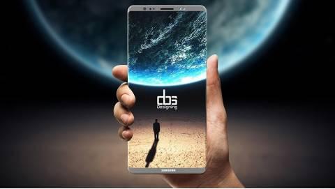 Samsung Galaxy Note 8  hé lộ cảm biến vân tay đặt dưới màn hình