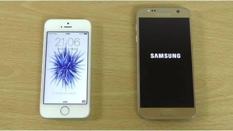 So sánh Galaxy S7 và iPhone SE quốc tế cũ giá hơn 5 triệu
