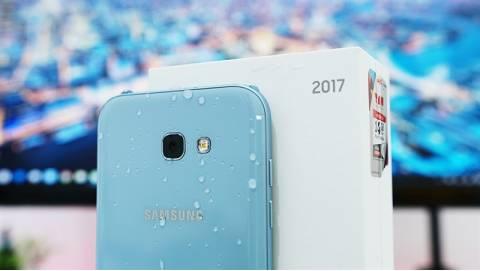 Hình ảnh trên tay Samsung Galaxy A5 2017 Xanh Pastel đẹp lạ