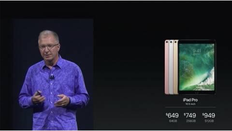 [WWDC17] Apple ra mắt iPad Pro 2017: viền mỏng, chip A10X, có bản 512GB