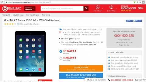 Mua iPad Mini 2 cũ giá rẻ ở đâu uy tín, có trả góp 0% ở HCM?