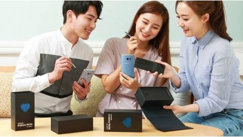 Samsung Galaxy Note FE chính thức lên kệ ở Hàn Quốc, giá hấp dẫn
