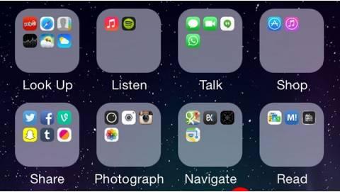 Hướng dẫn lồng folder vào nhau trên các thiết bị chạy iOS