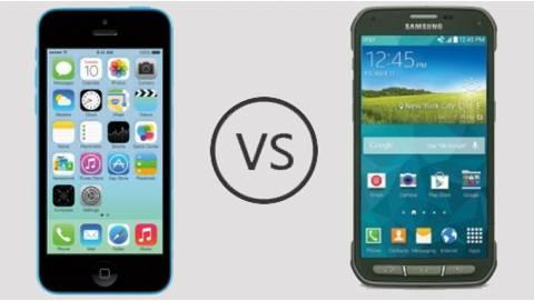 So sánh iPhone 5C và Galaxy S5 Active trong tầm giá 2 triệu