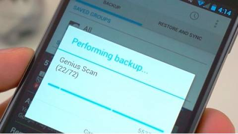 Hướng dẫn sao lưu dữ liệu trên Android