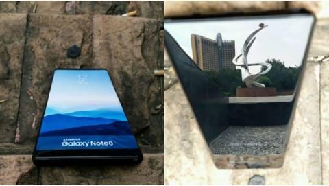 Samsung Galaxy Note 8 bóng bẩy như gương tiếp tục lộ diện