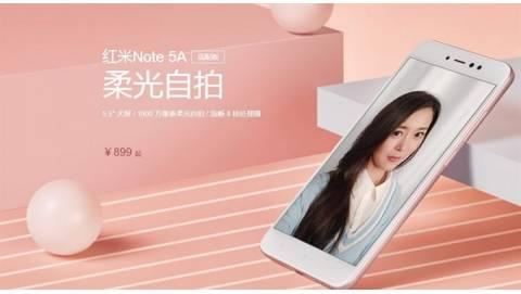 Xiaomi Redmi Note 5A ra mắt: selfie đẹp, pin trâu, giá rẻ