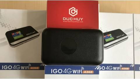 Mua bộ phát Wifi 4G IGO A368 tặng sim 4G, miễn phí 60GB data