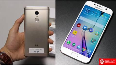 Samsung Galaxy S6 và Xiaomi Redmi Note 4X cạnh tranh quyết liệt