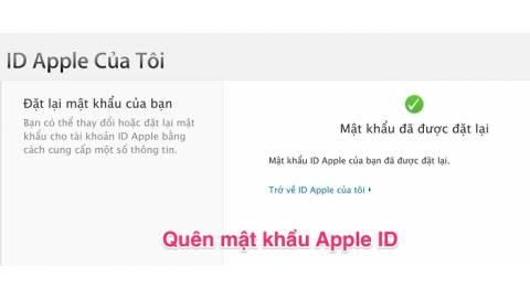 Hướng dẫn lấy lại mật khẩu Apple ID trên iPhone