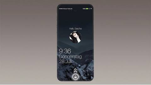 Concept iPhone 7 với nút Home đa năng, không viền, chạy iOS 10