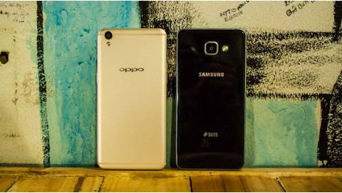 Samsung Galaxy A7 2016 đọ selfie với Oppo F1s