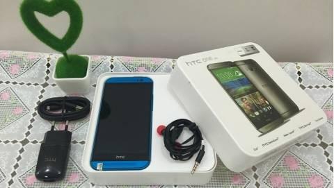 Đập hộp HTC One M8 full-box bản màu xanh, giá hơn 3 triệu