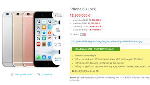 IPhone 6S Lock Nhật giá chỉ 12,9 triệu đồng tại Việt Nam