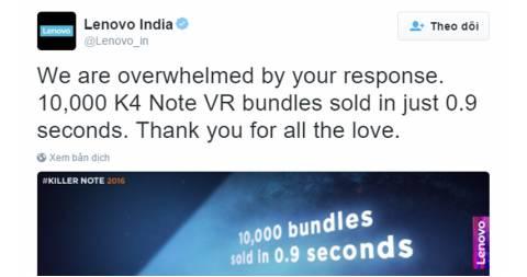 Lenovo K4 Note trang bị kính thực tế ảo K4 Note VR ở thị trường Ấn Độ