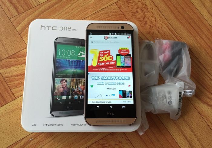 Đập hộp HTC One M8