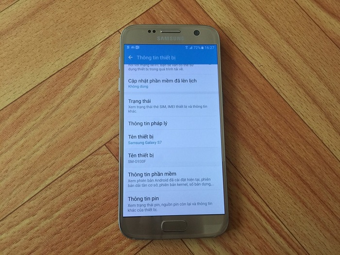 Đập hộp Samsung Galaxy S7 32GB 14