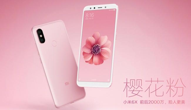 Xiaomi Mi 6X màu hồng