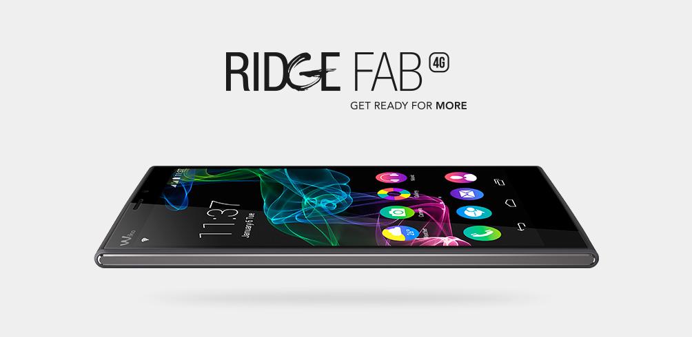 Wiko Ridge Fab 4G thiết kế thanh mảnh