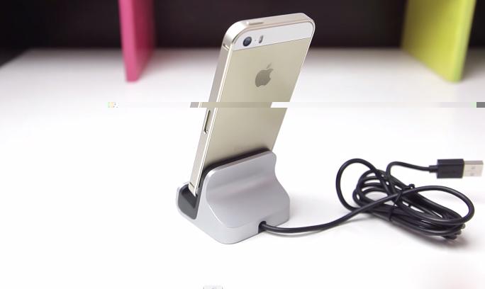 Dock sạc iPhone 5, 5s nhìn từ phía sau