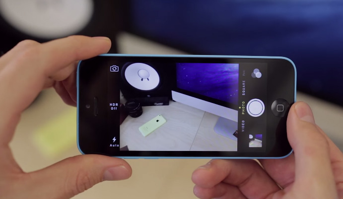 Camera 8MP, hỗ trợ quay phim FullHD 1080p@30fps trên iPhone 5C Lock 16gb