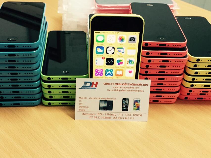 ảnh thực tế iPhone 5C Lock 16GB tại Đức Huy Mobile 01