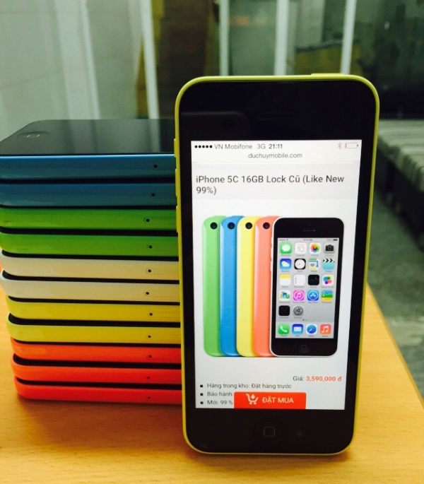 iphone 5c 16GB lock cũ