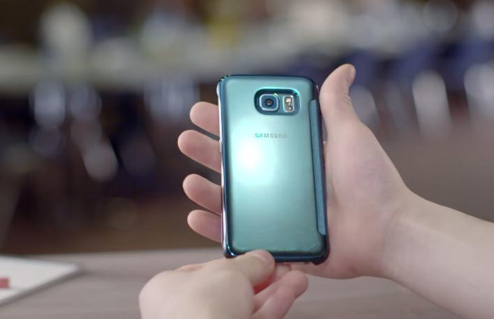 Mặt sau bao da Samsung S6
