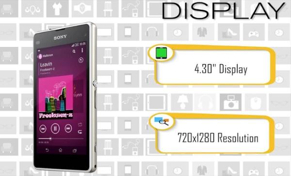 Sony Xperia J1 màn hình