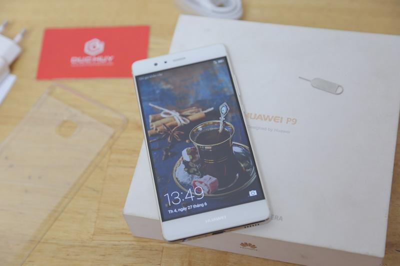 huawei p9 mở hộp màn hình
