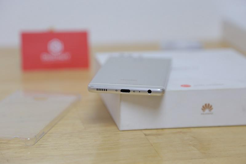 huawei p9 mở hộp thiết kế cạnh dưới