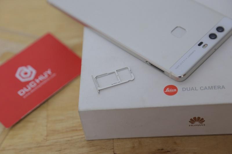huawei p9 mở hộp thiết kế khay sim