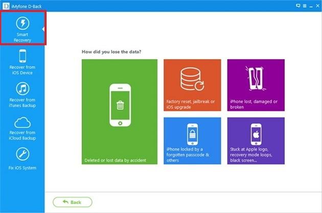 khôi phục dữ liệu cho iPhone với iMyfone D - Back