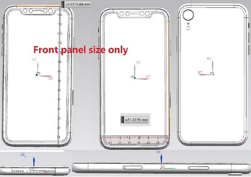 iphone x plus bản vẻ với 3 camera