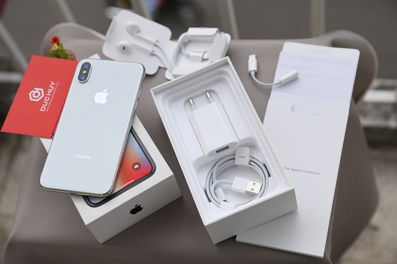 iphone x trôi bảo hành và phụ kiện đi kèm
