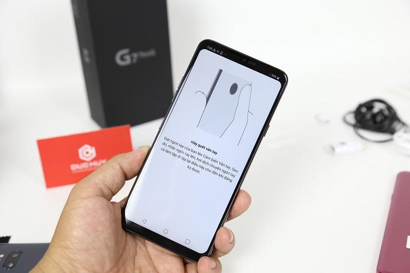 lg g7 thinq cảm biến vân tay mới