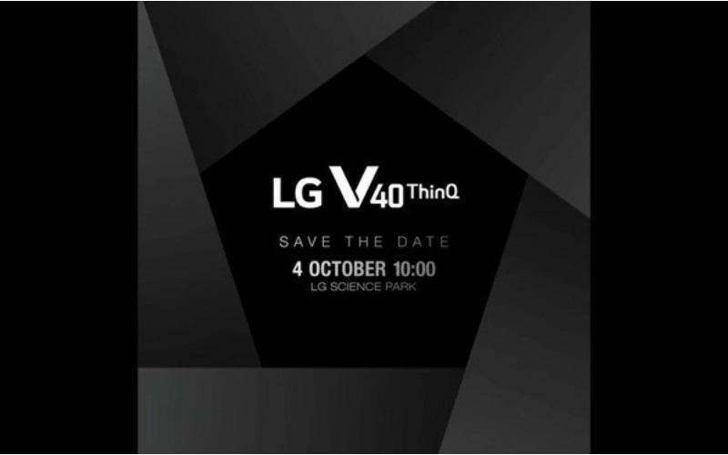 LG V40 sẽ chính thức trình làng ngày 4/10