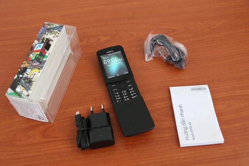 nokia 8110 4g máy và phụ kiện