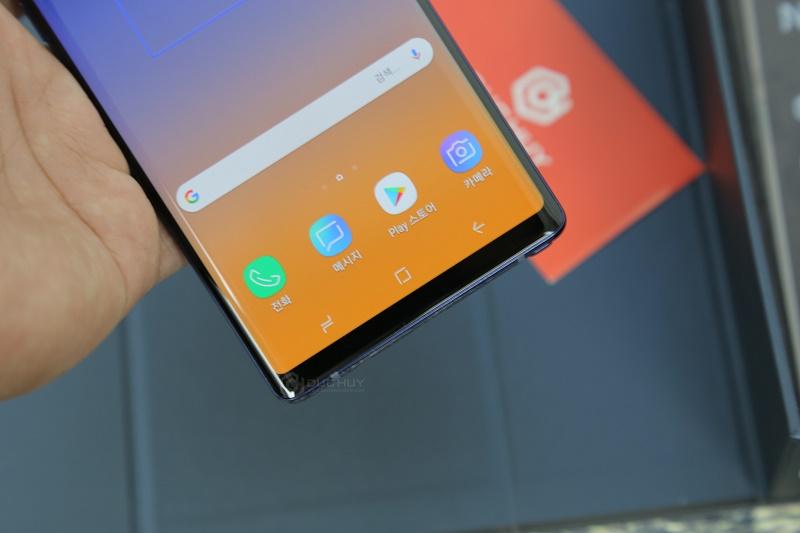 samsung galaxy note 9 đánh giá đánh giá cạnh dưới màn hình
